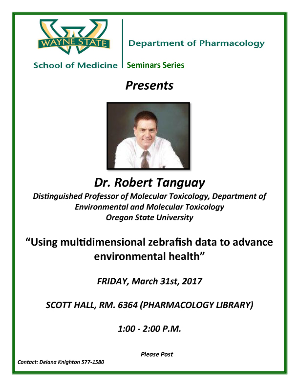 SOM pharmacology seminar march 31, 2017